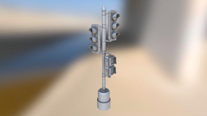 USA Styled Traffic Light 3D Model