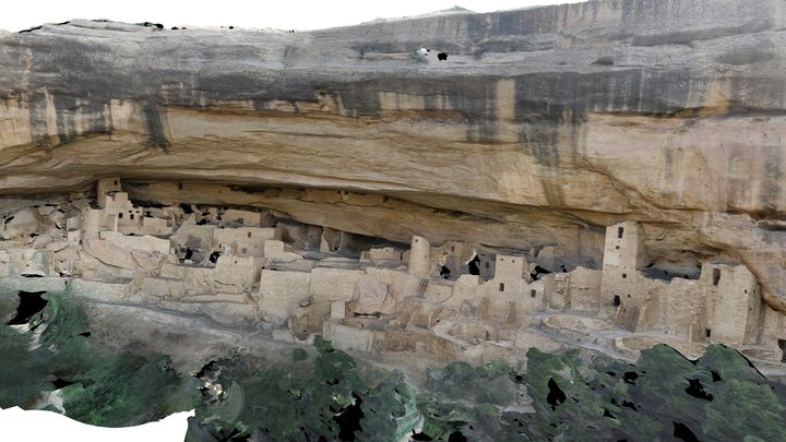 Cliff Palace. Mesa Verde National Park, Colorado 3D Model