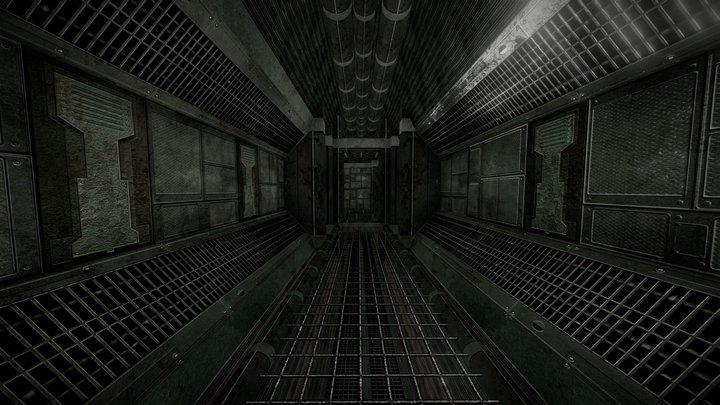 Sci-Fi Corridors 3D Model