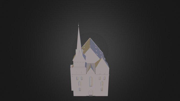 Kosciół Mariacki około 1320 roku 3D Model
