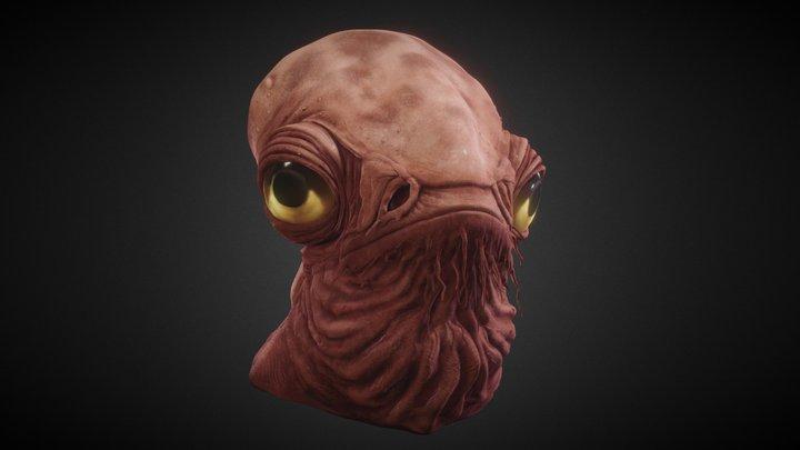 Admiral Ackbar Head Sculpt 3D Model