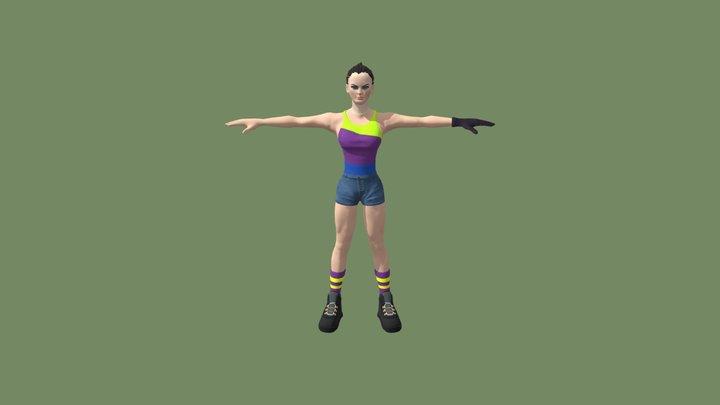 Sporty Girl 3D Model
