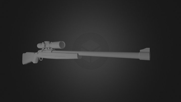 Hunter Rifle with Retx12 Scope 3D Model