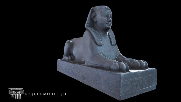 Royal Sphinx of the Pharaoh Achoris 3D Model