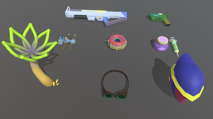 Homework 4. Quick drafts colouring 3D Model