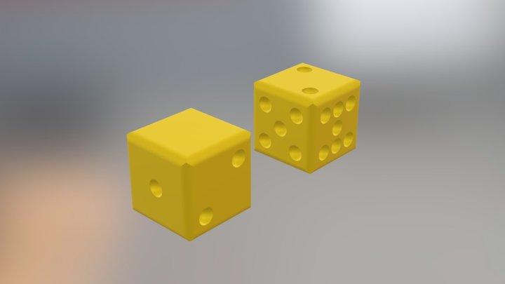 Modified Sicherman Dice 3D Model