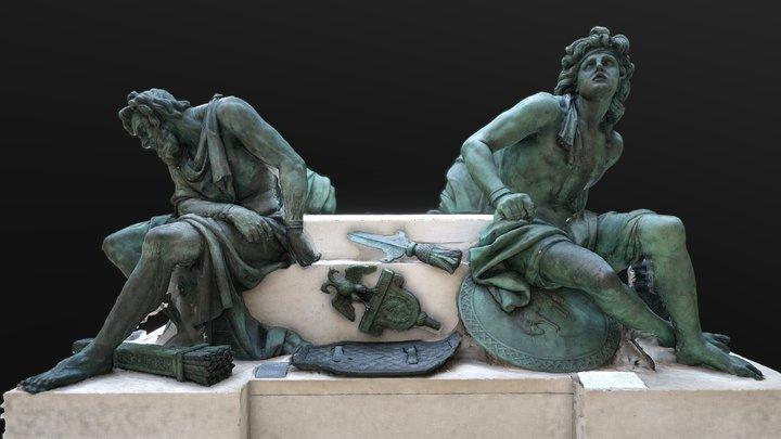 Four Captives_Richelieu wing Louvre 3D Model