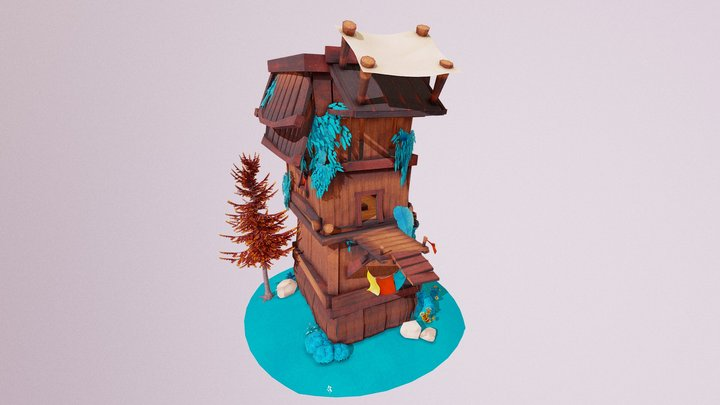 Lily - Cabin Environment 3D Model