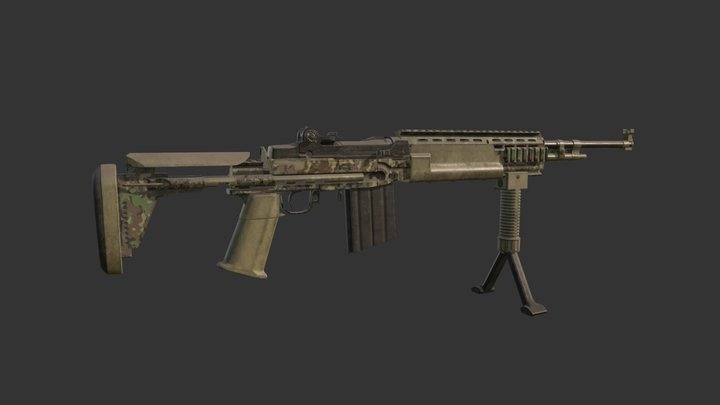 M14 EBR 3D Model