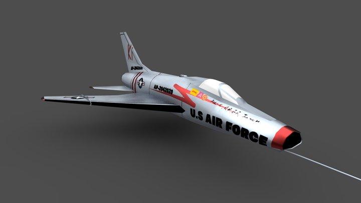 F-100 Super Saber (LP) 3D Model