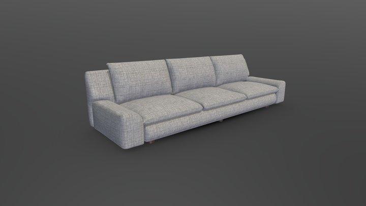 Grey Sofa 3D Model
