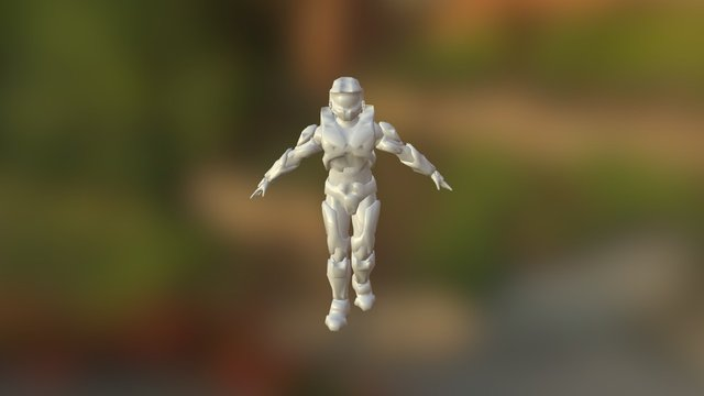Spartan Fixed Walk WIP 3D Model