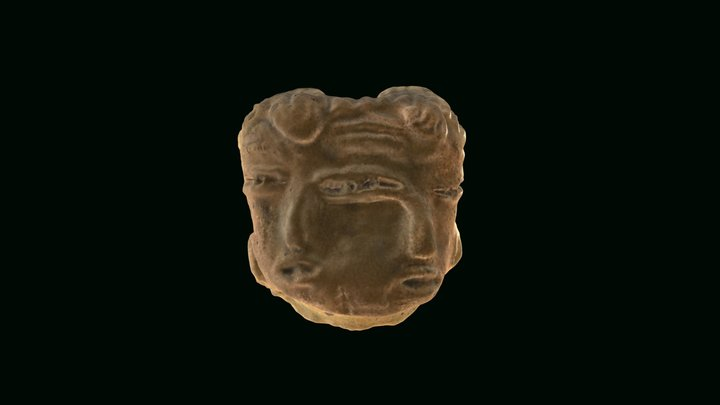 Double-face figurine head from Tlatilco 3D Model