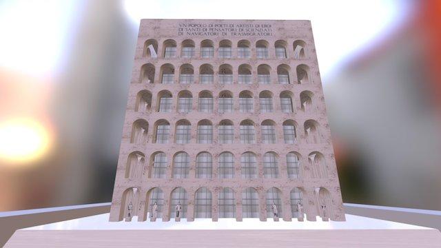 Palazzo Della Civilta Italiana- Square Colosseum 3D Model