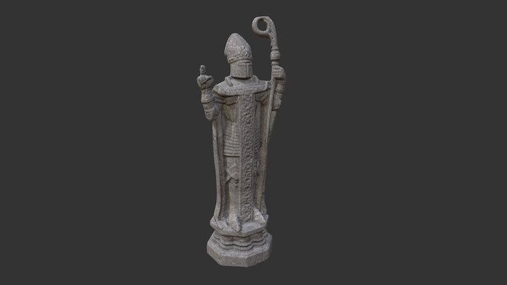 Bishop Chess piece from Harry Potter franchise. 3D Model