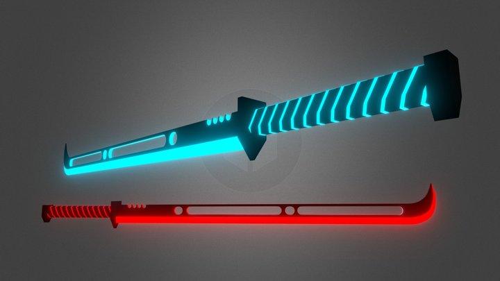 Beat Saber Custom saber   'Dual Swifts' Mk. I 3D Model
