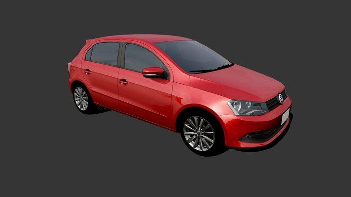 VW Gol GT 2017 Low Poly 3D Model
