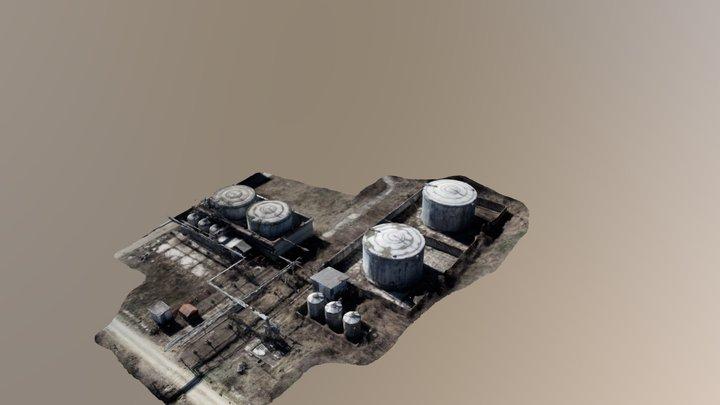 Silos 3D model 3D Model
