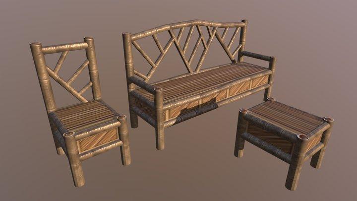 Philippine Bamboo Sala setting1 3D Model