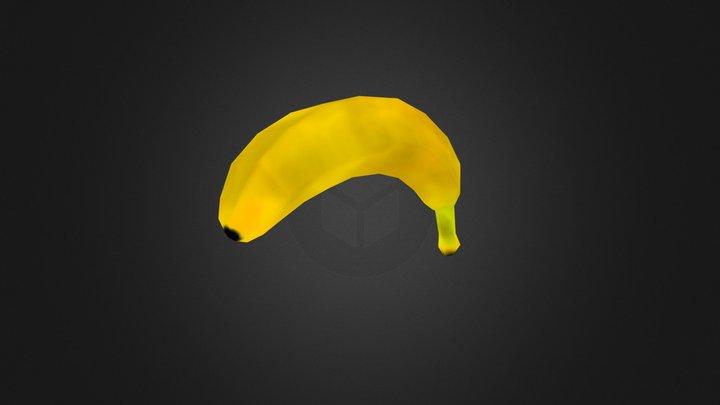 Low Poly Banana 3D Model