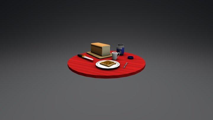 Morning table 3D Model