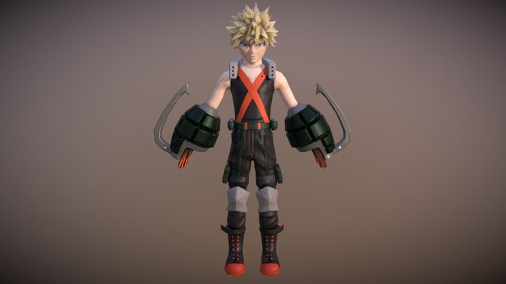 Bakugo Katsuki (My Hero Academia) 3D Model