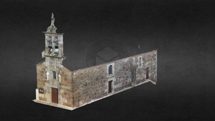 Sta Mariña Lemaio (Laracha,  A Coruña) 3D Model