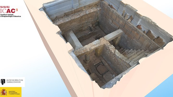 Crypt of the Arches, Saint Fructuosus 3D Model