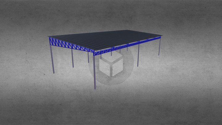 Cobertura Treliçada 3D Model