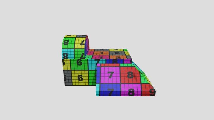 UV Building Tex 3D Model