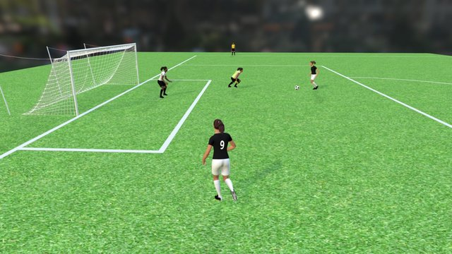 NFHS - Soccer Play 1 3D Model