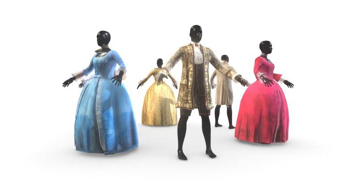 Russian Costumes 3D Model