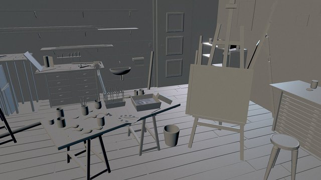 ARTIST'S WORKSHOP by Ralf Wilding 3D Model
