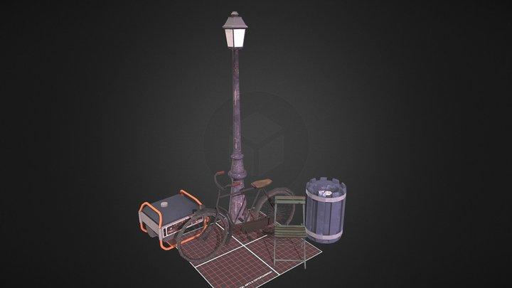 Props_Scene | Tom van Asten 1DAE04 3D Model