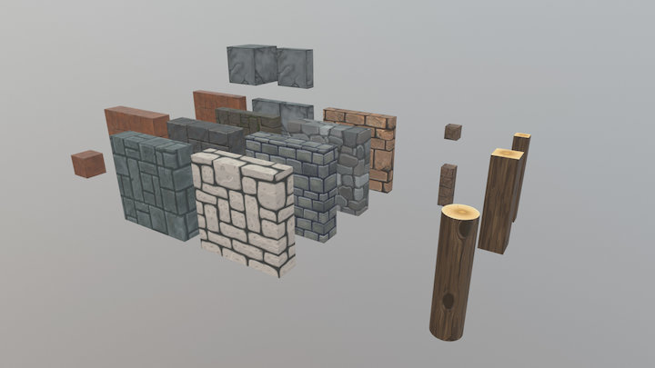 Fantasy Walls and floors 3D Model