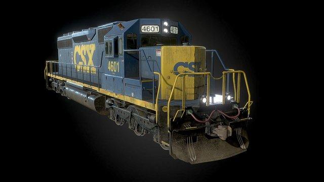 Electro-Motive Diesel SD40-2 Locomotive 3D Model