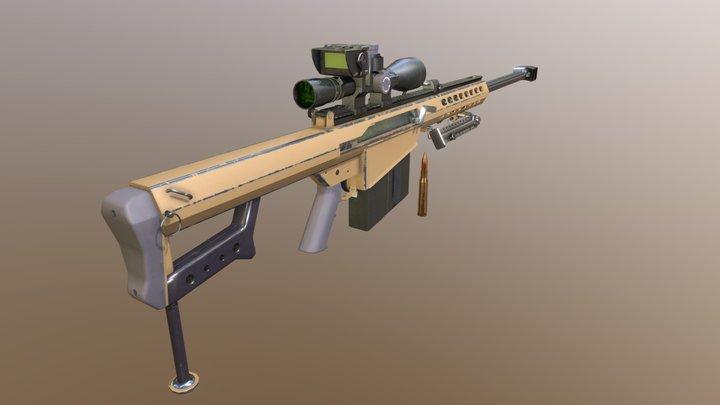Barrett M82A1 3D Model