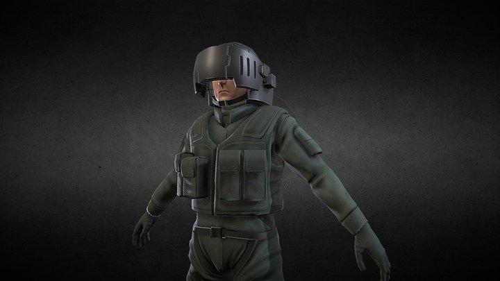 Original Mecha Pilot 3D Model