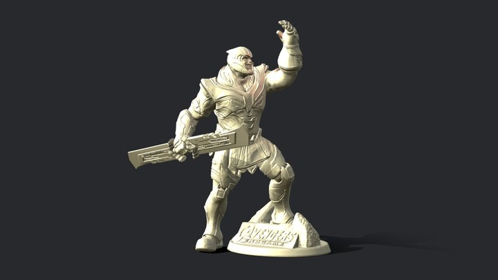 THANOS INSPIRITED FIGURE 3D Model