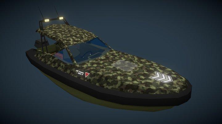 Military style Motor Boat S1 3D Model