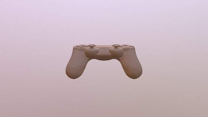 Ps4Controler LowPoly 3D Model