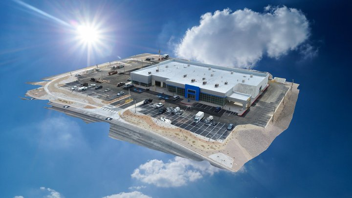 Galles Chevrolet Drone Map from Drone U 3D Model
