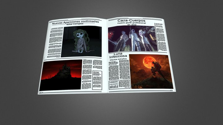 Dark magazine 3D Model
