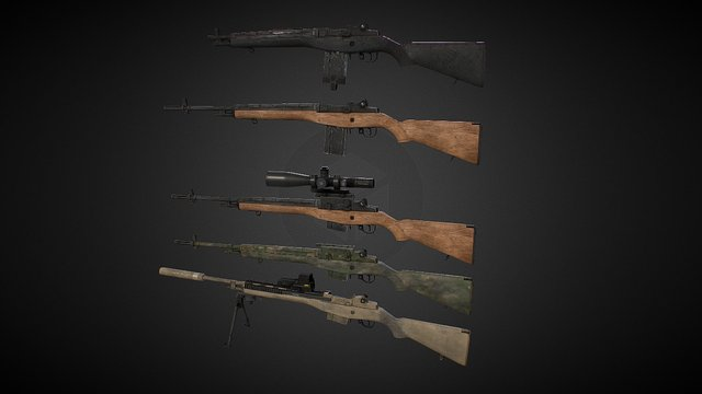 M14 3D Model