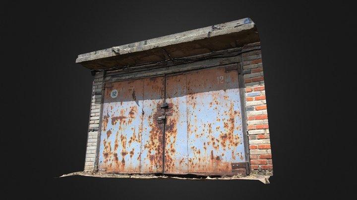Rusty garage door (Raw scan) 3D Model