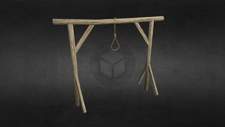 Old gallows 3D Model