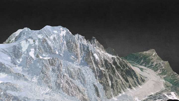 Pic Mont Blanc - Alps 3D Model