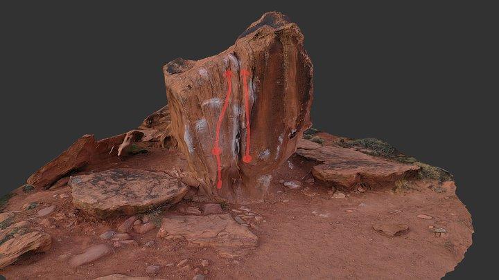 The Split Boulder 3D Model