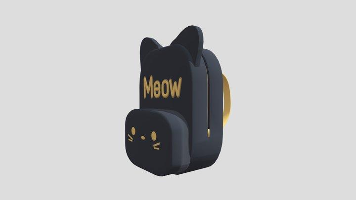 Kitty Cat Backpack 3D Model
