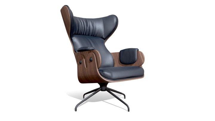 Lounger Armchair 3D Model
